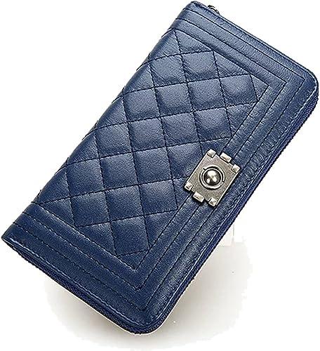 66e5eac622b4 Amazon   MAXIA Collections 長財布 レディース 紺 紫 黒 ラウンド ...