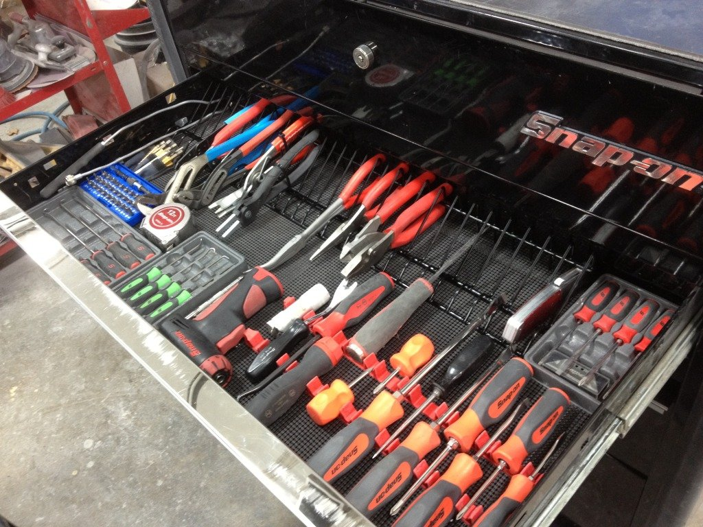 Pliers Rack Tool Drawer Storage Organizer Holder Metal
