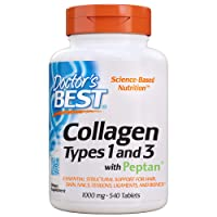 Doctor's Best Collagen Types 1 & 3 with Peptan, Non-GMO, Gluten Free, Soy Free,...