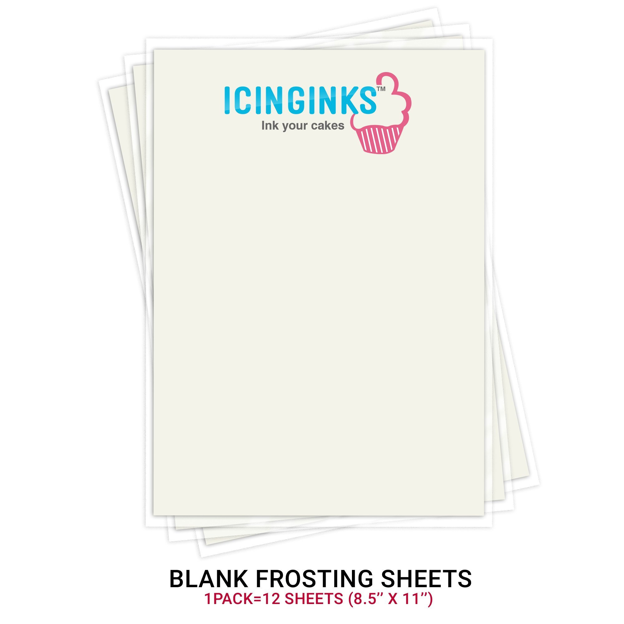 Icinginks Wide Format Edible Printer System - Comes with Refillable Edible Cartridges and 12 Frosting Sheets - Canon PIXMA iX6820 (Wireless)