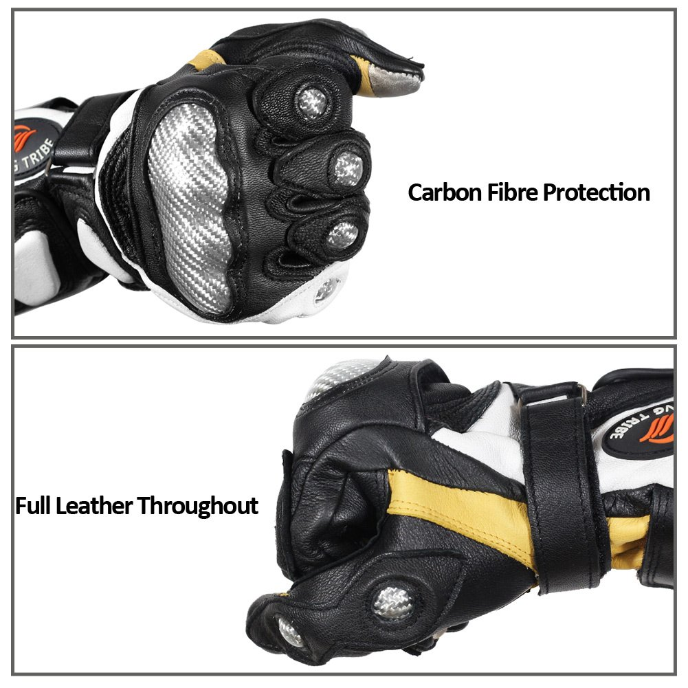 Riding Tribe Genuine leather Long Cuff Motorcycle Sport Gloves Professional Motocross Equipment