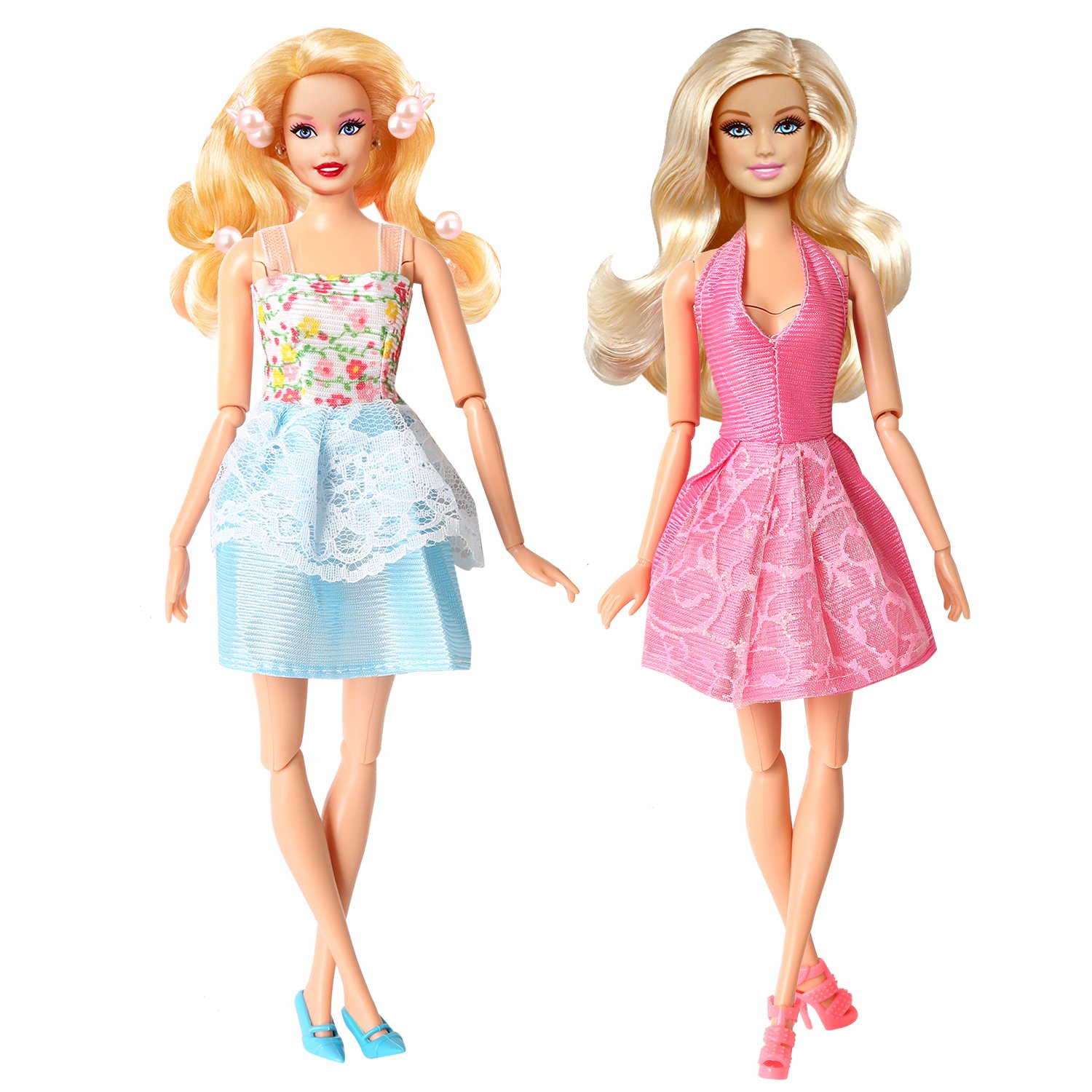 Amazon.com: Rainbow Handmade Dresses for Barbie Doll, Pack of 9 ...