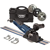 FERM Precisie-cirkelzaag, 500 W, variabele snelheid, inclusief geleiderails, 3 zaagbladen en opbergkoffer