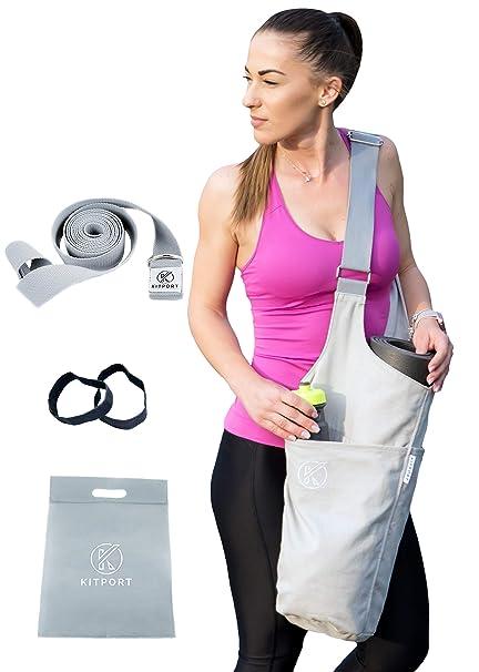 Amazon.com: KITPORT - Bolsa para esterilla de yoga, kit con ...