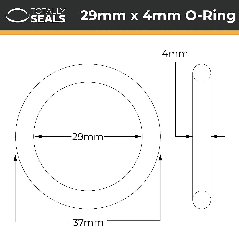 /scegliere Dimensioni confezione 37/MM od O-ring in gomma nitrile 70/a durezza Shore/ 29/mm x 4/mm Nero