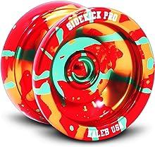 Sidekick Yoyo Pro Splashes Professional Aluminum UNresponsive YoYo (Red / Yellow / Green)