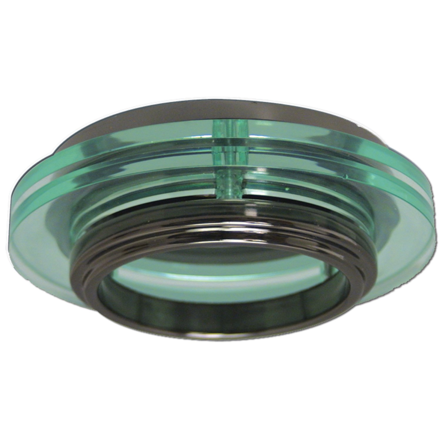 Halo Recessed 946BC 4-Inch 120-Volt Trim Metropolitan Black Chrome Accent with Translucent Rings by Halo Recessed