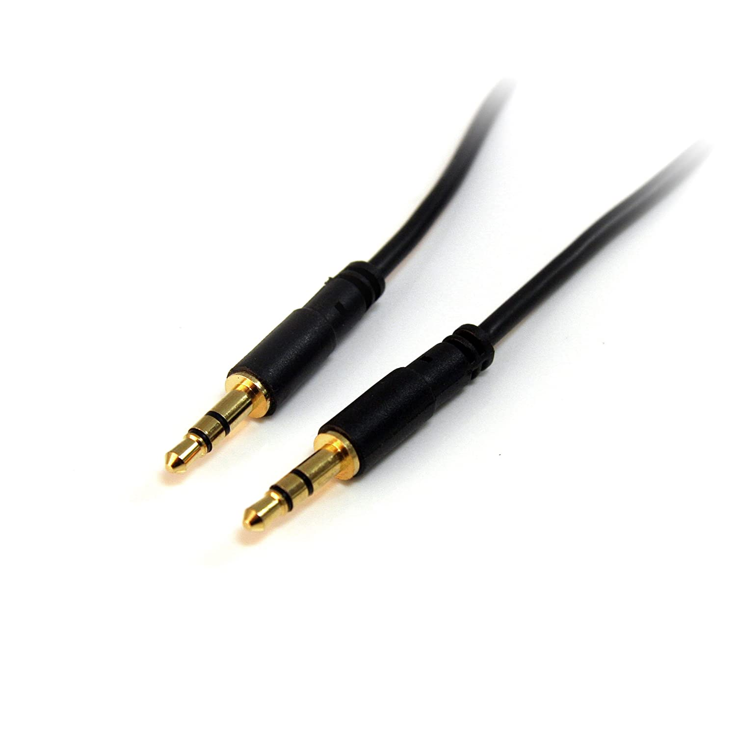 Amazon.com: StarTech.com 3 ft Slim 3.5mm Right Angle Stereo Audio Cable - M/M: Home Audio & Theater