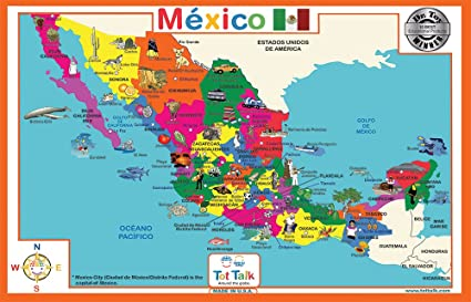 tot talk mexico geography educational placemat for kids