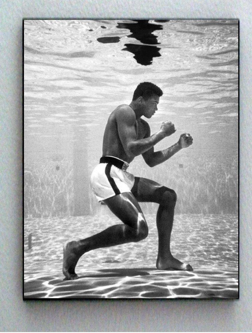 Muhammad Ali framed wall art Swimming Underwater boxing art