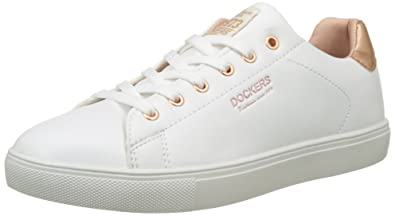 7d9138d615354 Dockers by Gerli Damen 38PD205-610592 Sneakers, (Weiss/Rosegold 592),