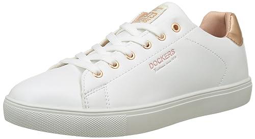 Dockers by Gerli 38pd205-610592, Zapatillas para Mujer, Blanco (Weiss/Rosegold 592), 36 EU