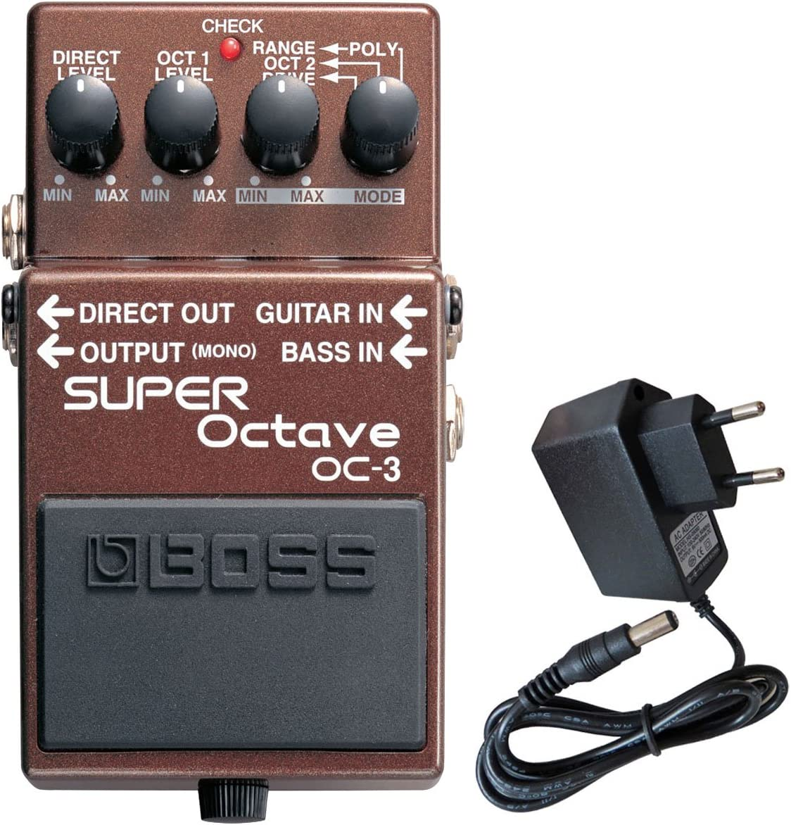 Boss OC-3 Super octava Efecto gerä T + Keepdrum 9 V Fuente: Amazon ...
