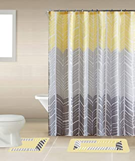 Sonia Yellow U0026 Gray Multi Tone 15 Piece Bathroom Accessory Set: 2 Bath