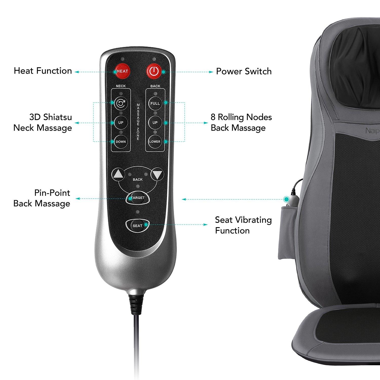 Amazon Naipo Back Massager Shiatsu Massage Seat Cushion for