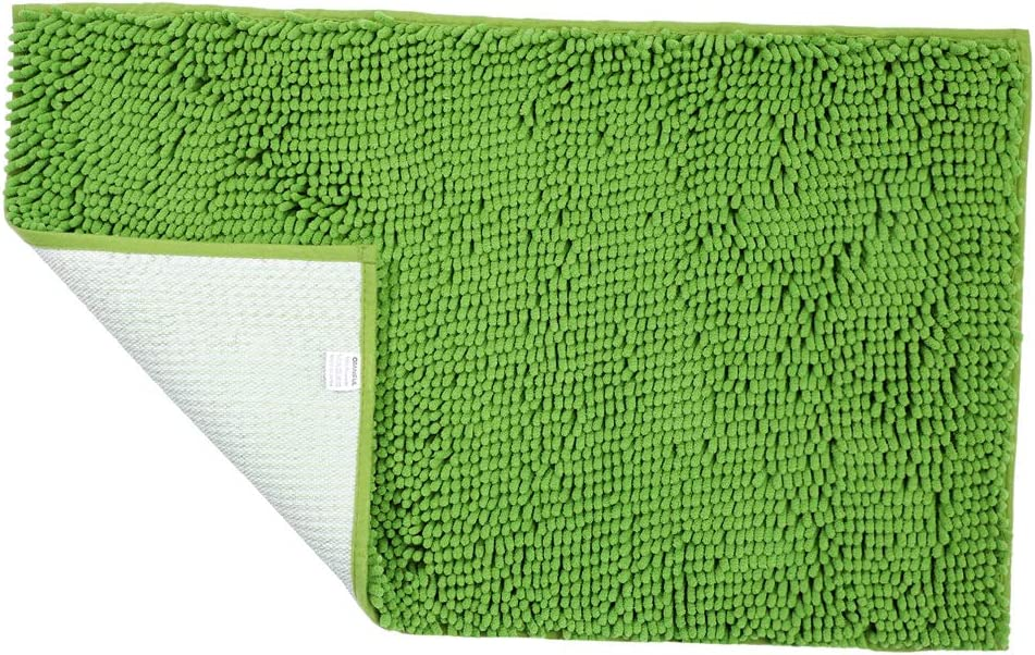 "Green Bath Rugs Floor Non Slip Bathroom Mat ORANIFUL Microfiber Plush Super Water Absorbent Machine Wash/Dry Shaggy Carpet Toilet Extra Soft 20""x 31.5"""