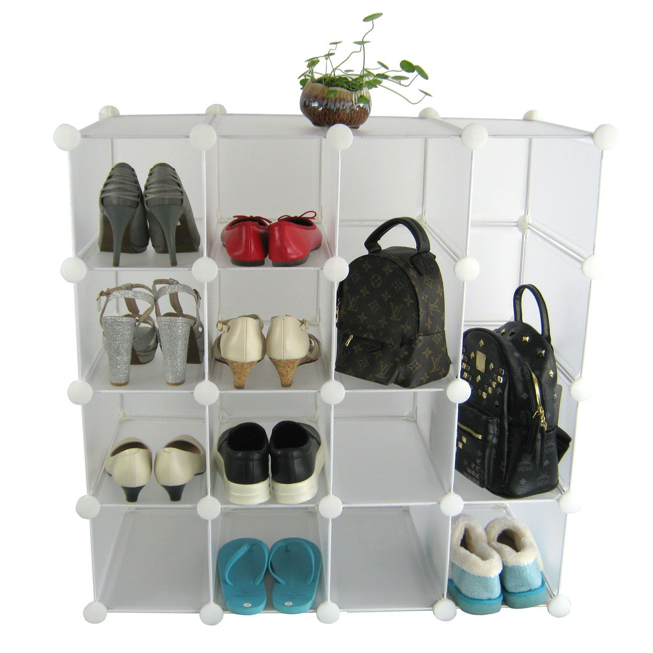 shoe organizer furniture. amazoncom sunhome multifunction 16x interlocking shoe rack organizer diy storage shelves make into any shape or size to organize shoes furniture