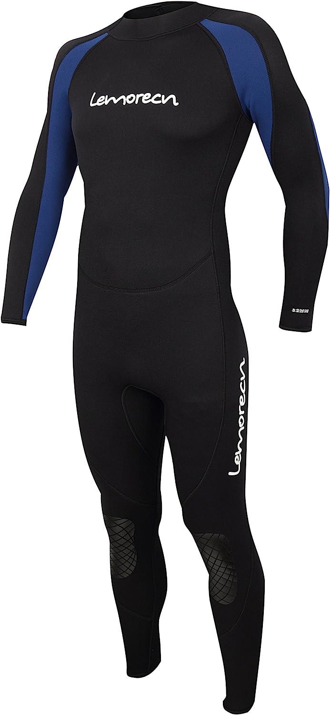 Lemorecn Mens Wetsuits Jumpsuit Neoprene 3 2mm and 5 4mm Full Body Diving Suit for Men and Women