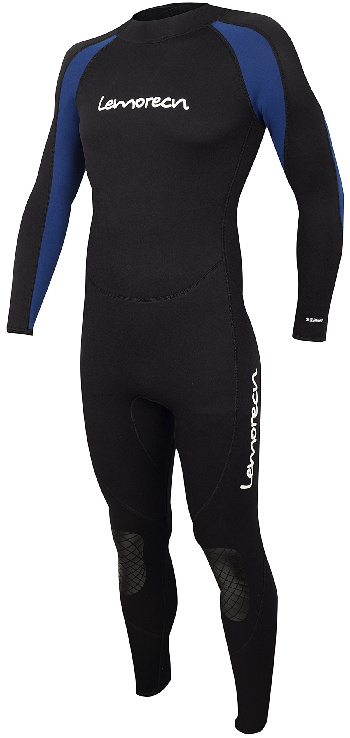 Lemorecn Wetsuits Jumpsuit Neoprene 3/2mm Full Body Diving Suit(3031,XL)