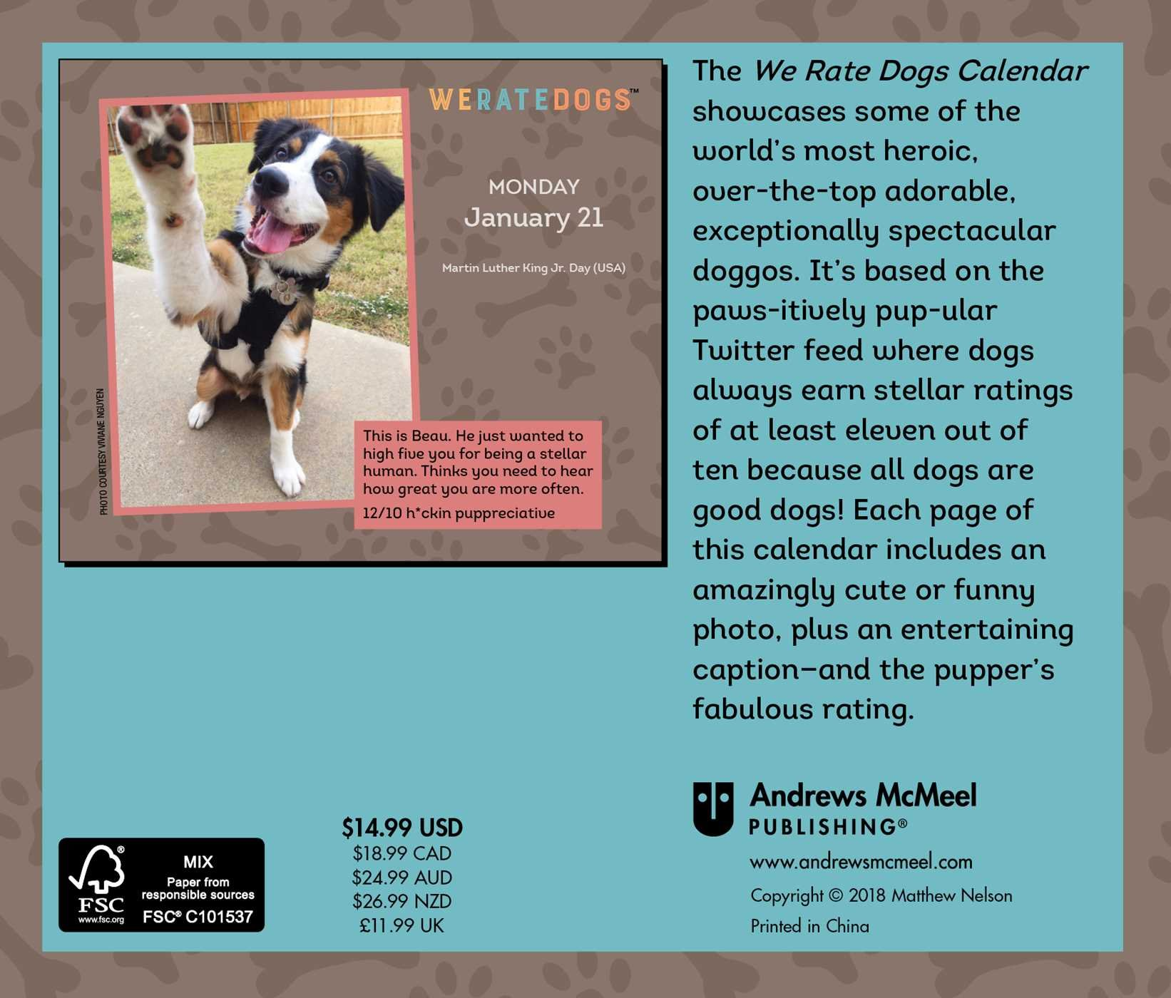Weratedogs 2019 Day To Day Calendar Matt Nelson 9781449492960