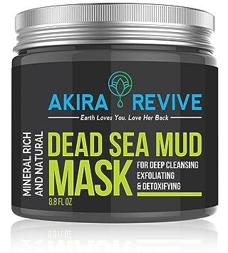 Máscara de barro del Mar Muerto Akira Revive para la cara, la piel grasa y