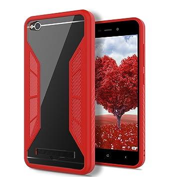 SmartLegend Smart Legend Funda Xiaomi RedMi 4A, Carcasa RedMi 4A Fibra de Carbono Funda Transparente Ultra-Delgado Ligera Anti-Rasguño Anti-Golpes ...