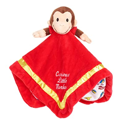KIDS PREFERRED Curious George Stuffed Animal Monkey Blanket: Toys & Games
