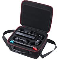 ASeeker Carry Case Compatible with Nintendo Switch-Deluxe All-Protective Hard Travel Carry Bag with Handle and Shoulder…