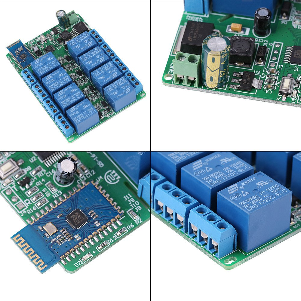 8 Channel Bluetooth Relay Module Board Android Mobile Phone App Wireless Remote Control Relay Switch for Android Smart Home