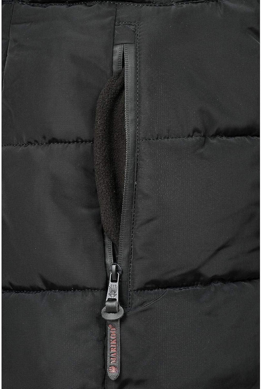 Marikoo Moonshine Cappotto Trapuntato Invernale da Donna Lungo con Grande XS-XXL Nero