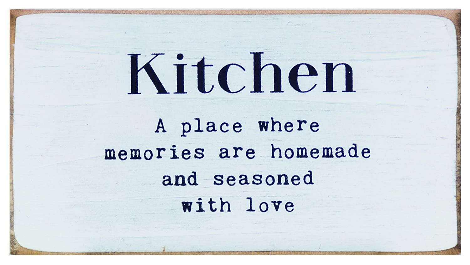 Multicolored CWI Gifts Distressed Shabby Chic Simply Farmhouse Kitchen Block