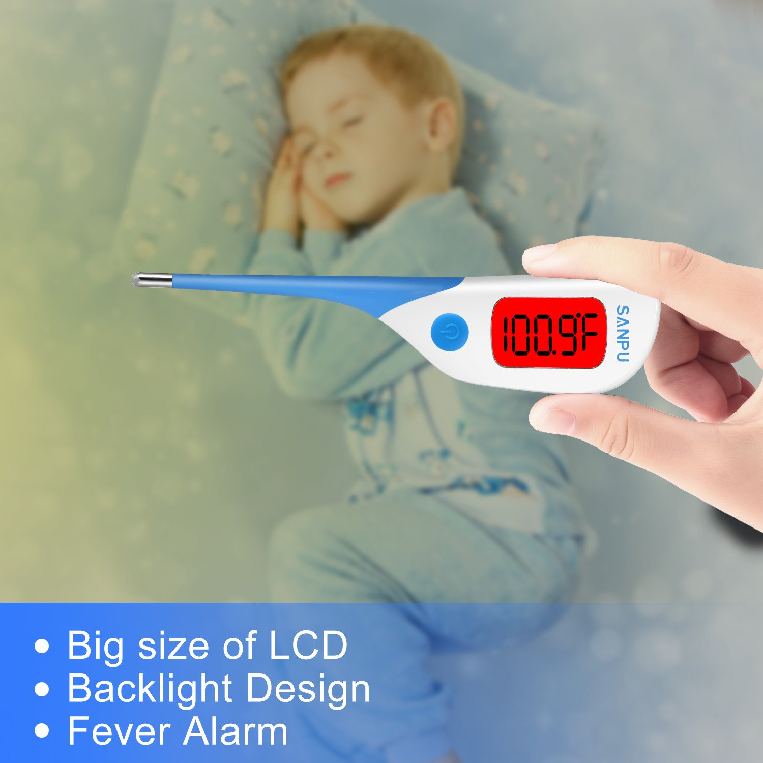 Amazon.com: Clinical Thermometer Digital Medical Oral Rectal and Armpit Thermometer for Baby and Adult, Fast 8 Seconds Reading,Waterproof with Fever Alarm ...