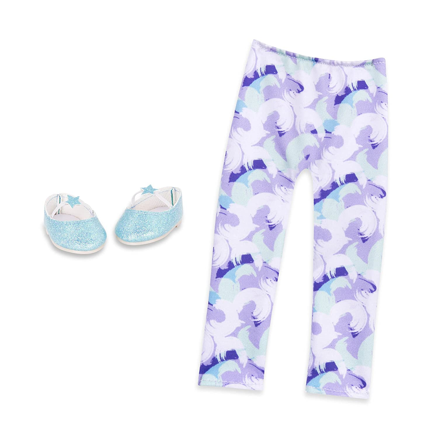 14-inch Doll Clothes and Accessories for Girls Age 3 and Up Glitter Girls by Battat Children/'s Toys Glitter on the Go Shoes Accessory Set