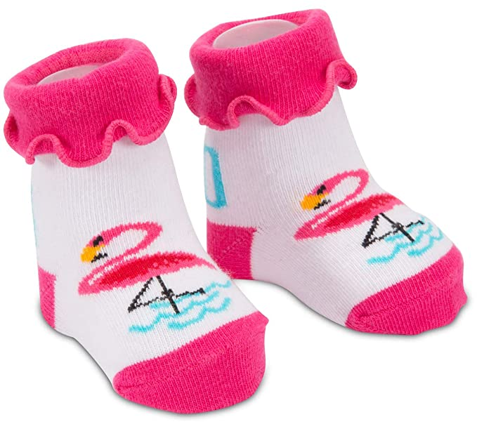a01816d27d05b Amazon.com: Izzy & Owie - Pink Flamingo Baby Socks 0-12 Months: Clothing