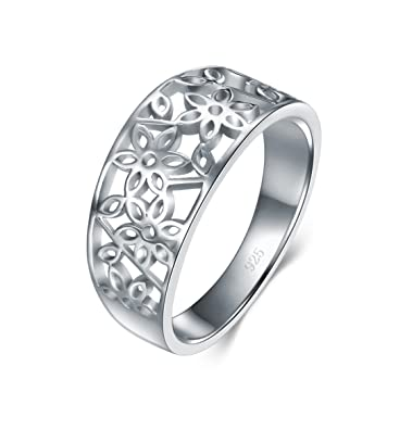 925 Sterling Silver Victorian leaf Filigree Ring RawKK1bb