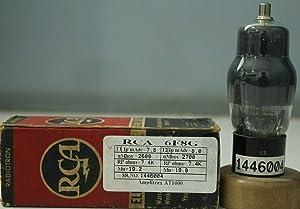 6F8G VT99 RCA NOS Nib Black Coated Glass Amplitrex Tested#1446004