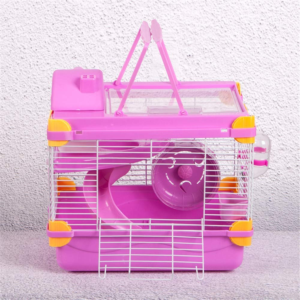 Pink CSWO Transparent Hamster Cage Hedgehog Nest Pet Nest Dutch Pig Nest Dream Castle