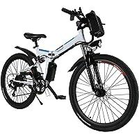 AMDirect Bicicleta de Montaña Eléctrica Bici Plegable Ebike con Rueda de 26 Pulgadas…