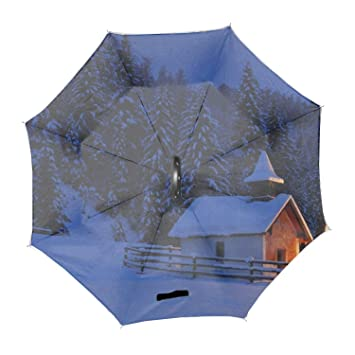 4546368daede Amazon.com: Automatic Compact Travel Umbrella with Reverse and Safe ...