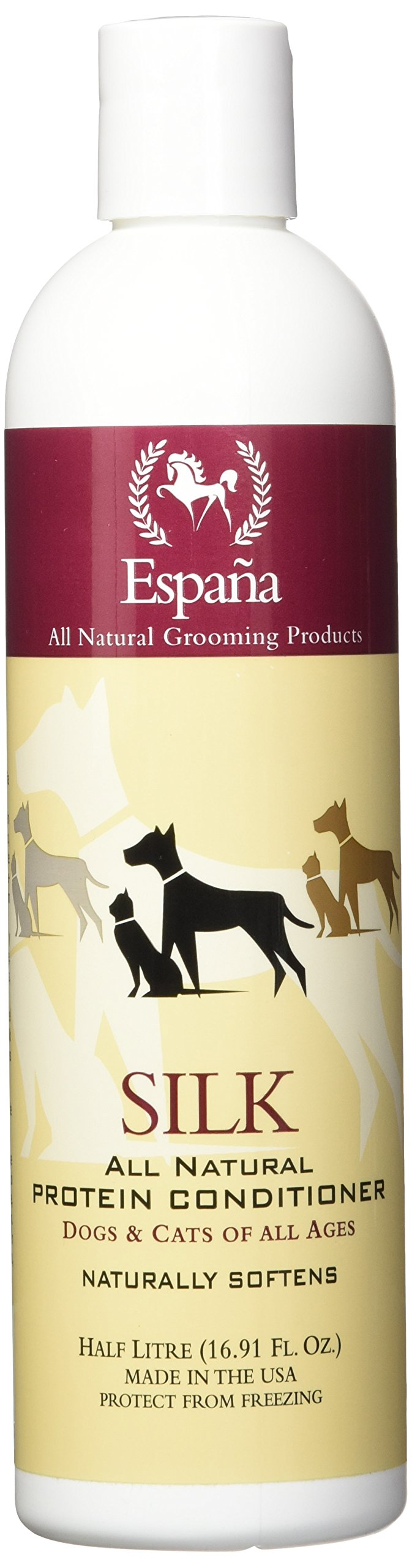 Espana Silk ESP1015DC Specially Formulated Silk Protein Conditioner for Dogs and Cats, 16.91-Ounce