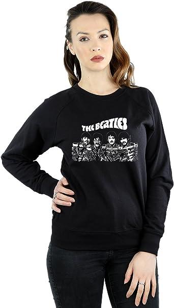 The Beatles Mujer Cartoon Camisa De Entrenamiento: Amazon.es ...