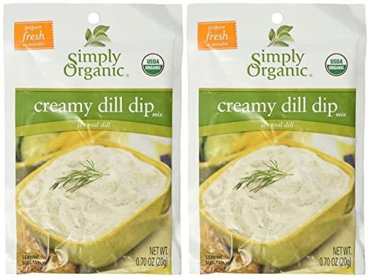 Simply Organic DIP mix-creamy dill-0.7 oz: Amazon.com ...