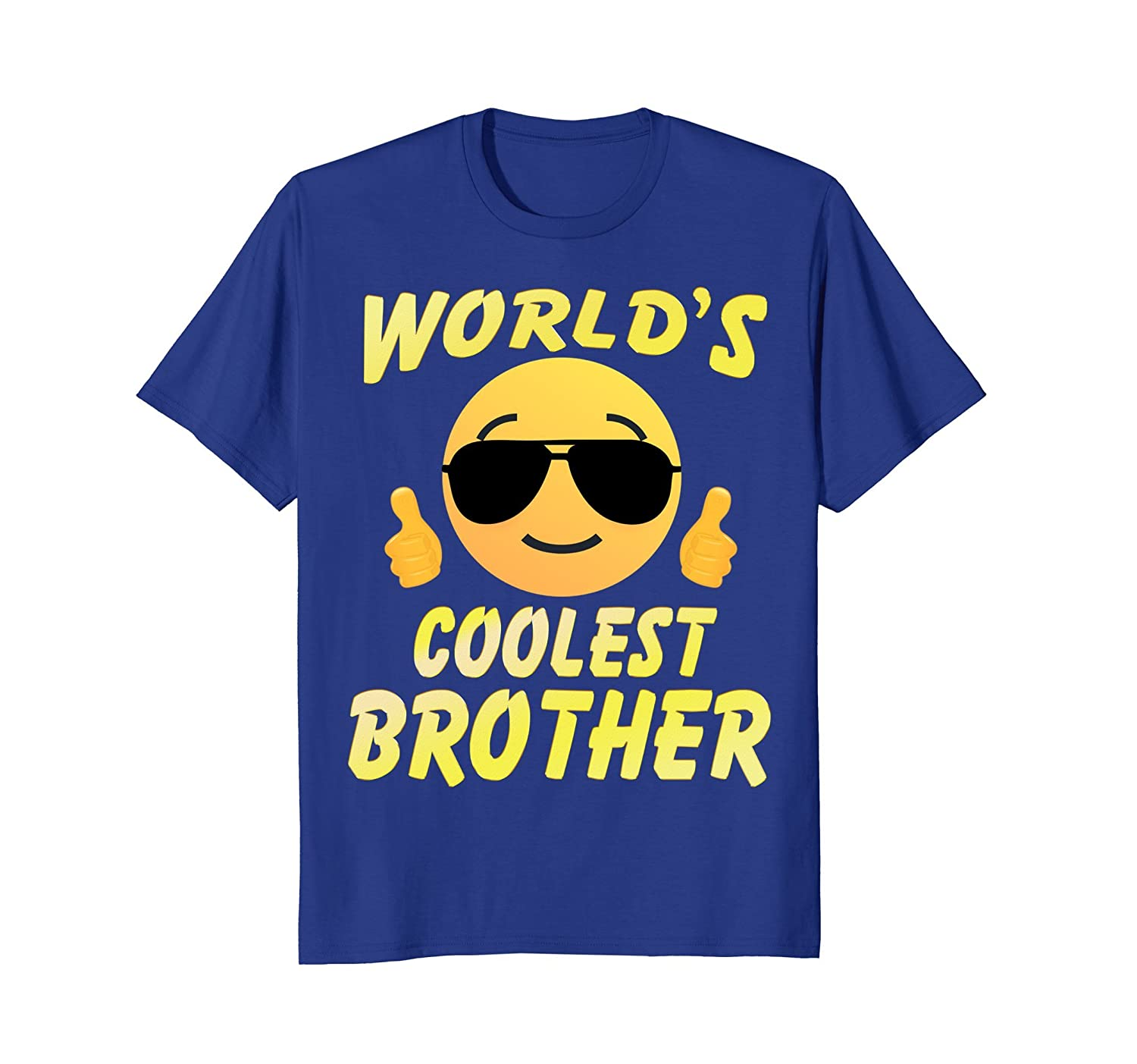 Cool Face Family T-shirt World's Coolest Brother Shirt- TPT