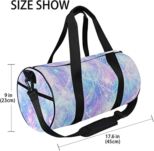 Women /& Men Foldable Travel Duffel Bag Colorful Fish Scale For Luggage Gym Sports