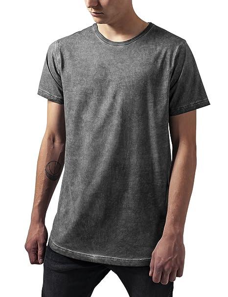 Urban Classics Shaped Long Cold Dye tee, Camiseta para Hombre, Gris (Darkgrey) M: Amazon.es: Ropa y accesorios