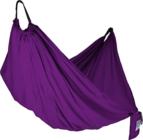 Equip Outdoors Portable Camping Hammock with Hanging Kit, 400lb Rating, Purple
