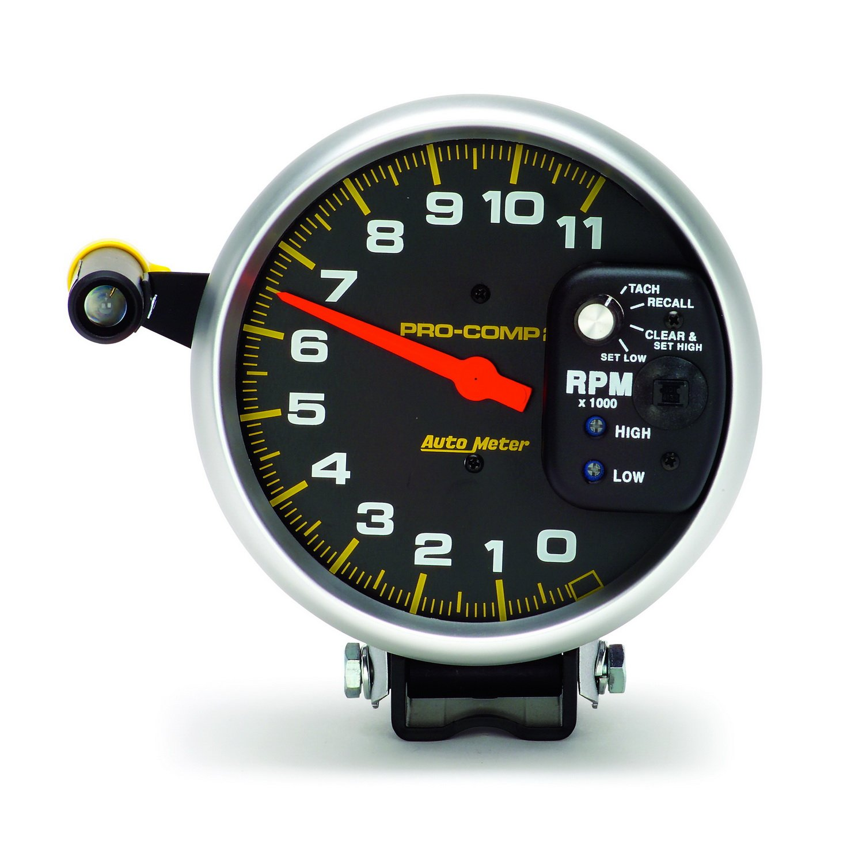 Amazon.com: Auto Meter 6857 Pro-Comp Single Range Tachometer: Automotive