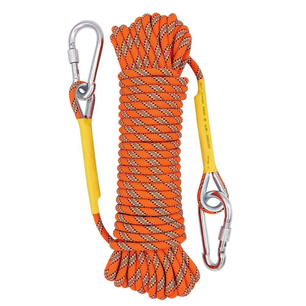 Xben Outdoor Climbing Rope 10M(32ft) 20M(64ft) 30M (96ft) 50M(160ft) Rock Climbing Rope, Escape Rope Ice Climbing Equipment Fire Rescue Parachute Rope (32 foot)
