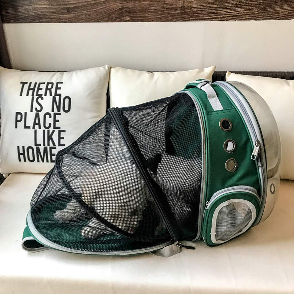 Zaino da Viaggio per Escursionismo YYRZGW Zaino per Animali da Compagnia Zaino per Gatti espandibile Bubble Space Capsule Trasportino per Animali Domestici Trasparente per Cani di Piccola Taglia