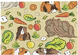 Adult Jigsaw Puzzles Guinea Pigs Pets Food Handicrafts Puzzles 300 Piece for Game Kids Toy Gifts Mural